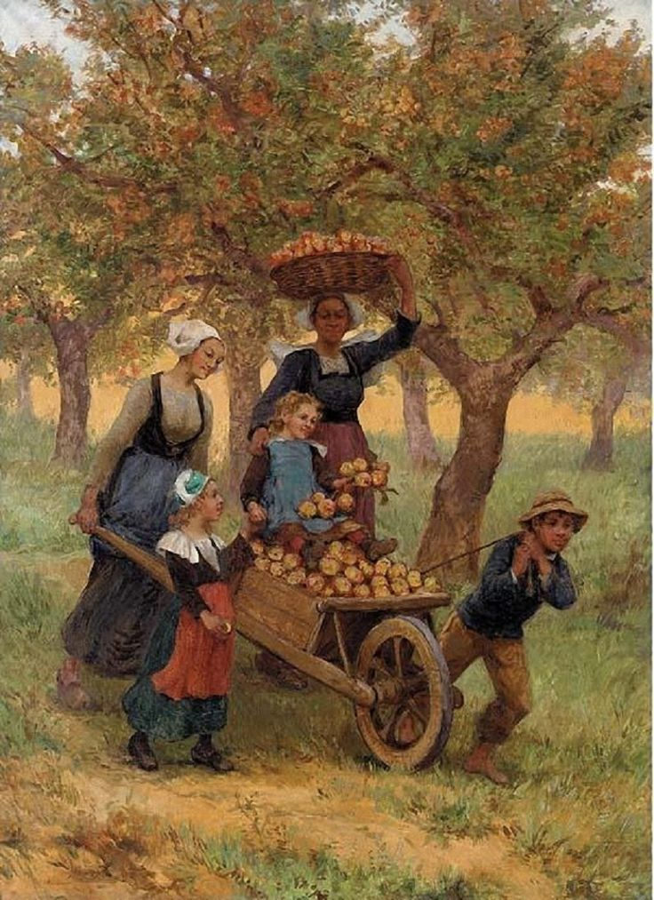 Camille Pissarro (French artist, 1830-1903) Apple Gatherers. 1891.
