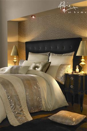 Buy Kylie Leopard Print Duvet Cover from the Next UK online shop - (use as idea for bed inset & spot lights over)