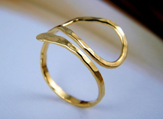 Great Gold hammered ring drop ring egyptian jewelry ring by AyalaVitkon