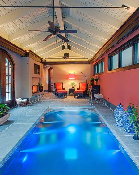 8 best swim spa backyard designs images on pinterest for Courtyard designs with spa