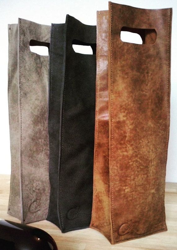 My Handmade Wine Bottle Leather Bag Can Fit Any Holiday Or Occasion As A Perfect Gift