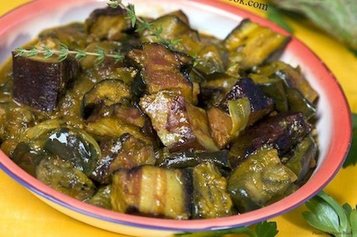 Rougail boucané bringelles (aubergines)