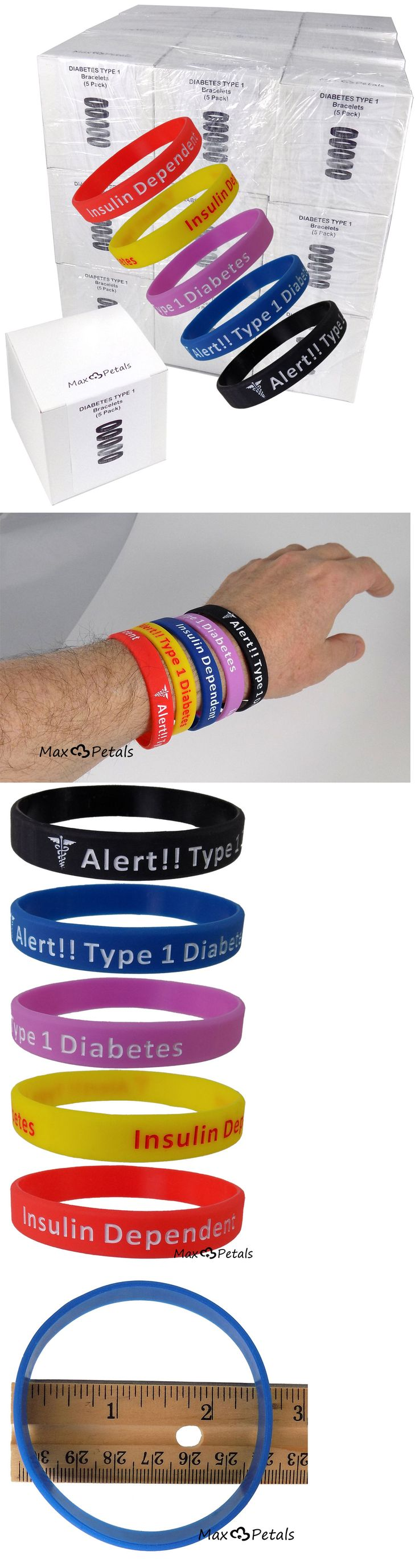 Wristbands 112603: Diabetes Type 1 Insulin Dependent Silicone Bracelet Wristbands Lot 27 5 Packs -> BUY IT NOW ONLY: $189.95 on eBay!