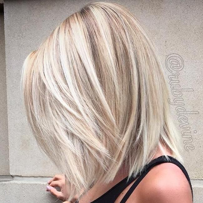 Medium+Layered+Blonde+Hair