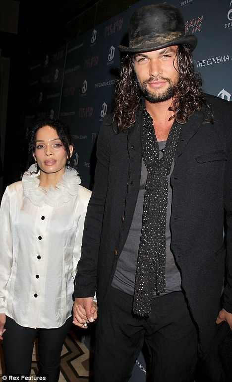 Jason Momoa with his beautiful wife, Lisa Bonet (of the Cosby Show)