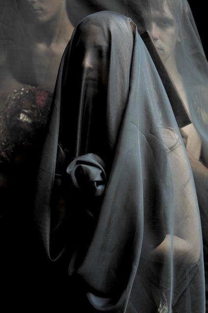 Majida Khattari (2013) From Le voile noir series Digital print on barytha paper Cm 150 x 120 Courtesy Glenda Cinquegrana: the Studio