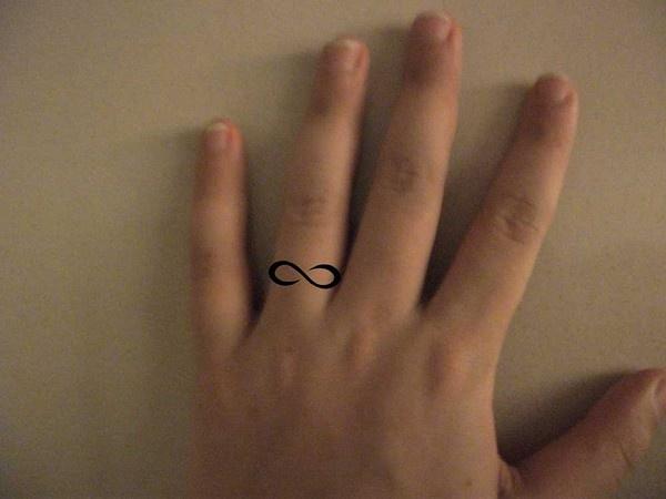 infinity ring idea tat ink white
