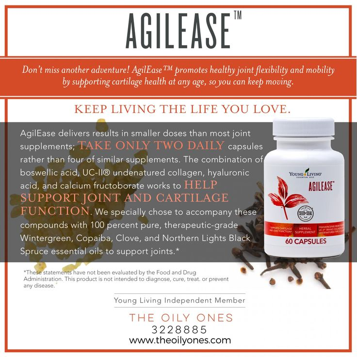 Young Living's AgilEase Best Herbal Joint Health ...