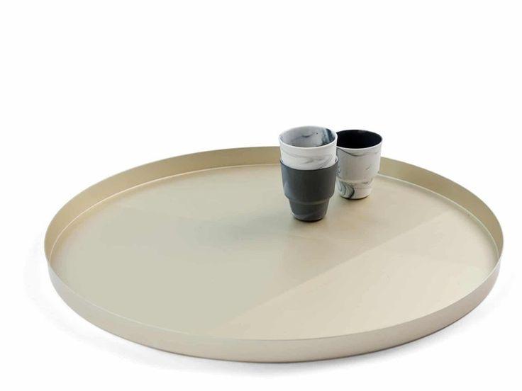 Round aluminium tray SANDPAPER TRAY by Vij5 design Baas