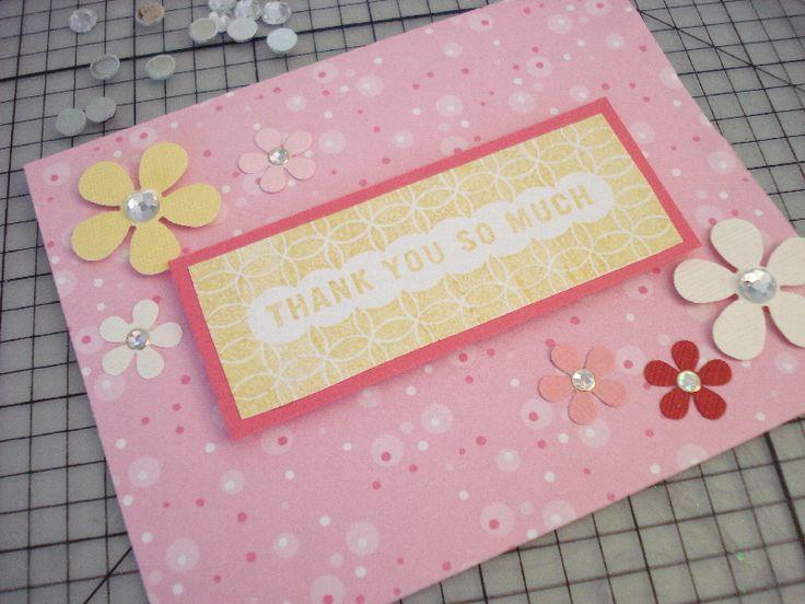 55.子供と一緒に作るThank youカード   簡単手作りカード                                             Chocolate Card Factory