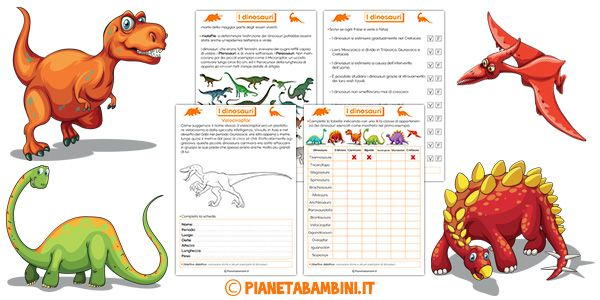 Schede didattiche sui dinosauri per la scuola primaria