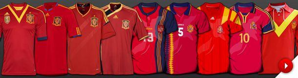 Historia de la selección española a través de sus camisetas