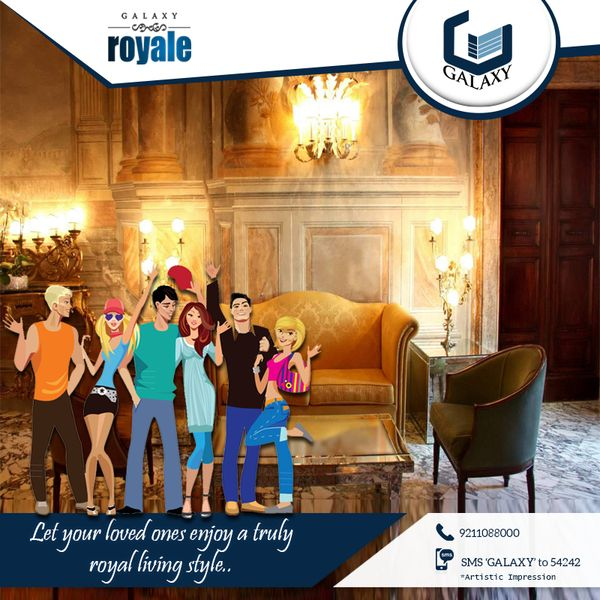 Experience a truly royal lifestyle in companion with #GalaxyRoyale.#TheGalaxyGroup #Apartment #CommercialProperty #ResidentialProperty #GalaxyNorthAvenue2 Visit: http://buff.ly/2oks2b1