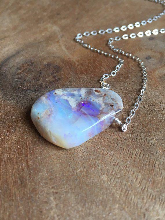Sky Opal Teardrop Opal beautifully set on Silver