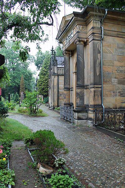 Dorfkirche Schöneberg cemetery in Berlin, Germany