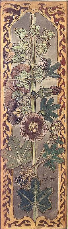 Hollyhocks by Stanislaw Wyspianski.
