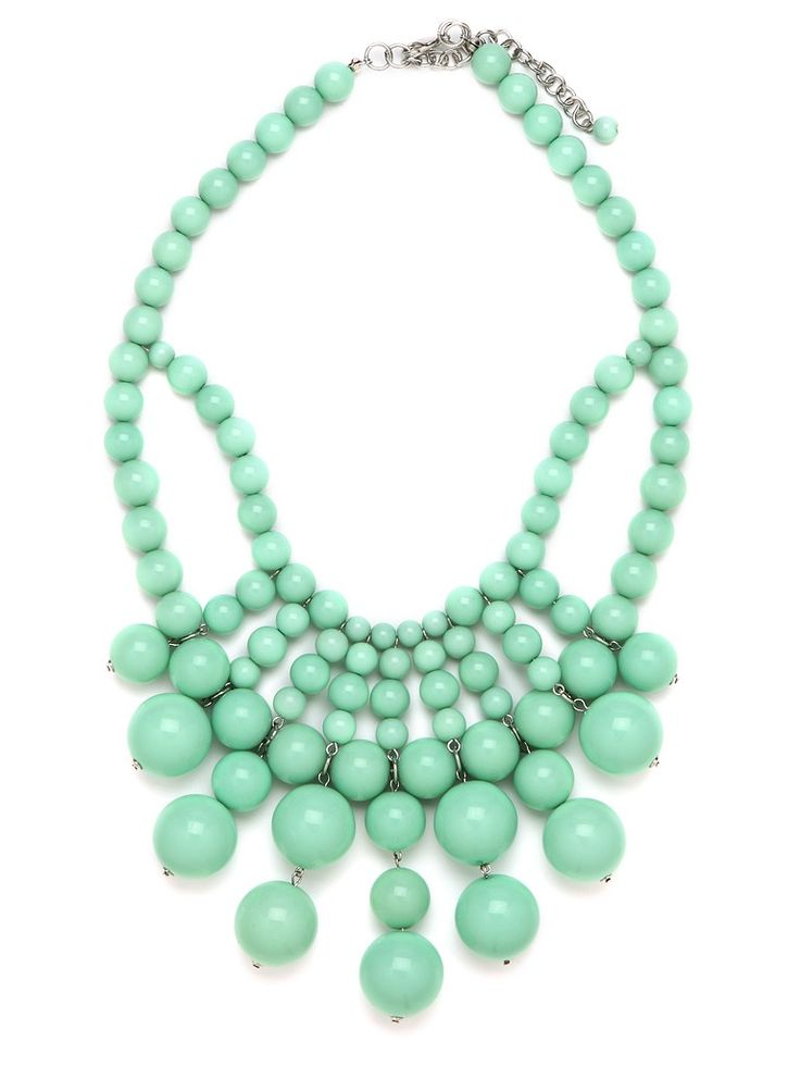 Minty Fresh Statement Necklace by Bauble Bar: Baubles Bibs, Baubles Bar, Mint Green, Statement Necklaces, Beads Necklaces, Jewelry, Mint Necklaces, Bib Necklaces, Bibs Necklaces