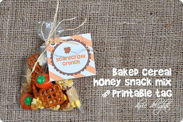 Scarecrow Crunch {Free Printable}