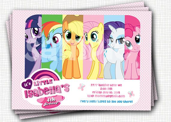 22 best my little pony images on pinterest | birthday party ideas, Printable invitations