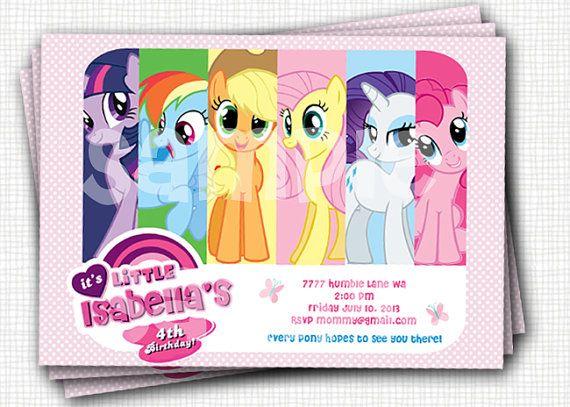 Best 25 Invitaciones my little pony ideas on Pinterest My
