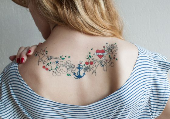 Sioou, Yes&Never tattoo #anchor #tattoo #ink #roses