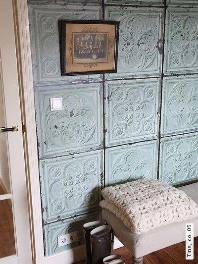 Behang oude tegels