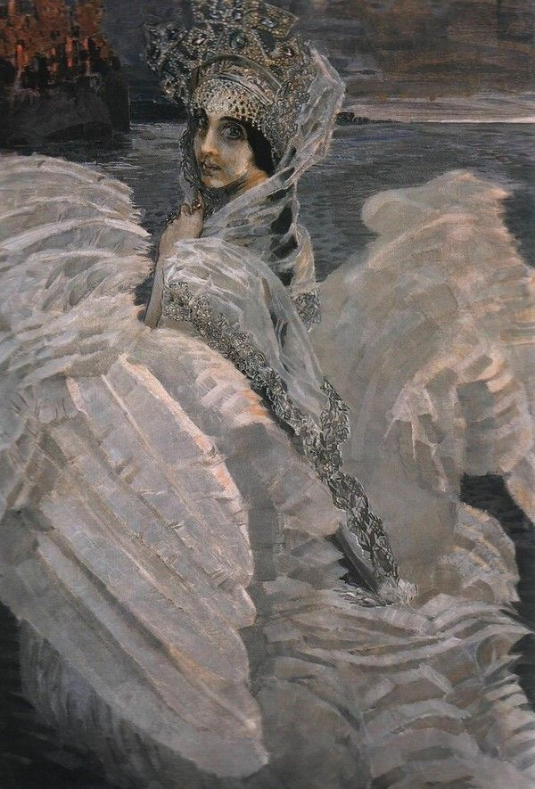 Mikhail Vrubel - Swan Princess / Михаил Александрович Врубель - Царевна-Лебедь, 1900, Холст, масло, 142,5×93,5 см, ГТГ