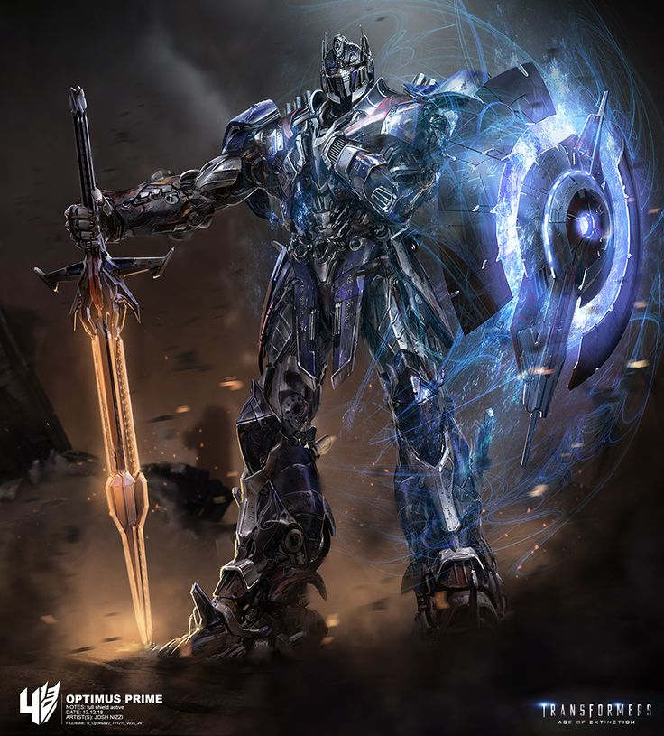 This early concept art from Transformers age of extinction shows optimus prime in his robot mode displaying his weapons. This is very useful to me as I use high amounts of detail in my work in robotics and mechanisms. These characters need o be highly detailed and photorealistic for a big blockbuster movie such as transformers.