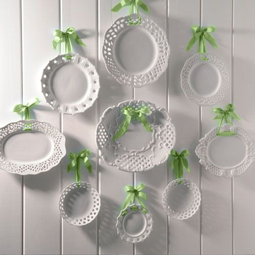 Wall Decor Glass Plates : Decorating with plates using dinner to decorate
