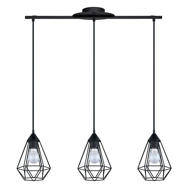 Tarbes Suspension géométrique à 3 lumières en acier noir L79cm 69,90 euros chez Alinea