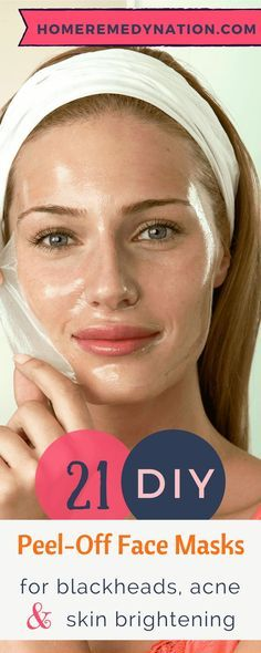 21 DIY Peel Off Face Masks For Blackheads, Acne and Skin Brightening | Home Remedy Nation #NaturalRemedy #Pell-Off #Face #Masks #SkinCare #Acne #SkinBrightnenig #Blackheads