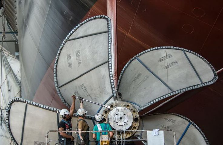 30-ton propellers installed on future USS Gerald R. Ford aircraft carrier | WTKR.com