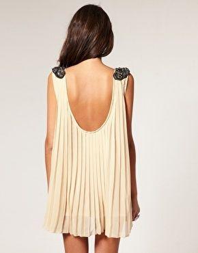 Pleated mini dresses.