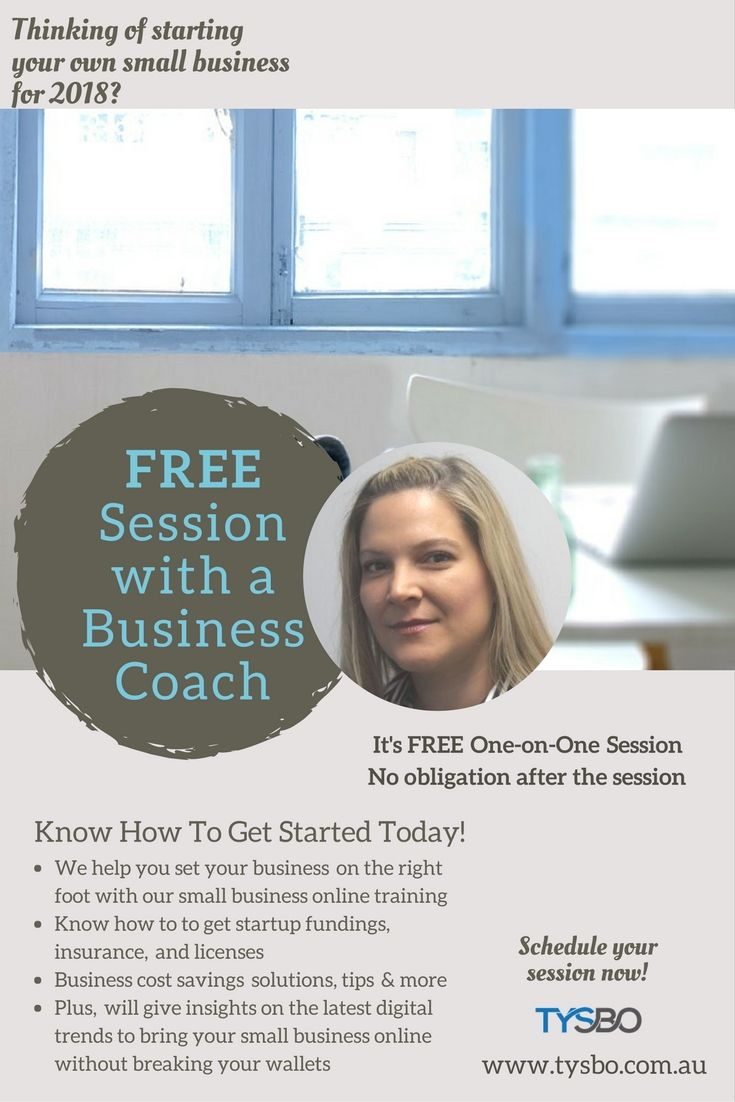 We help you build a strong foundation for your small business! Get started today with our FREE session! =)