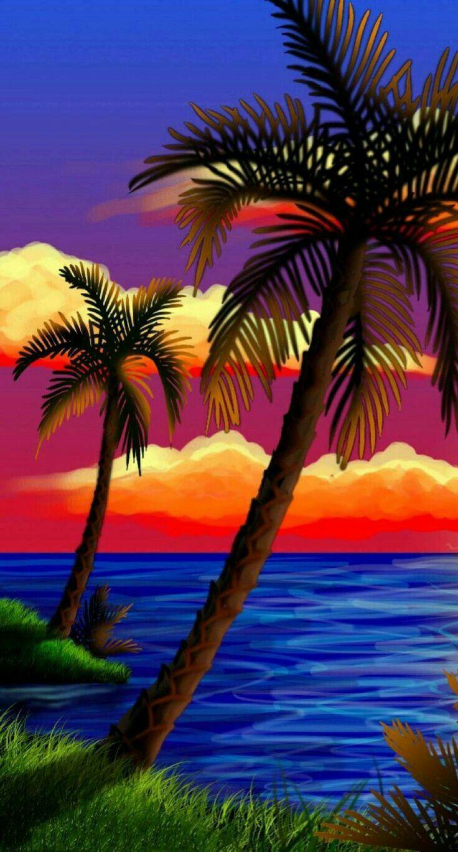 Pin De Marizol Karina En Pintura Con Imagenes Pintura De Playa