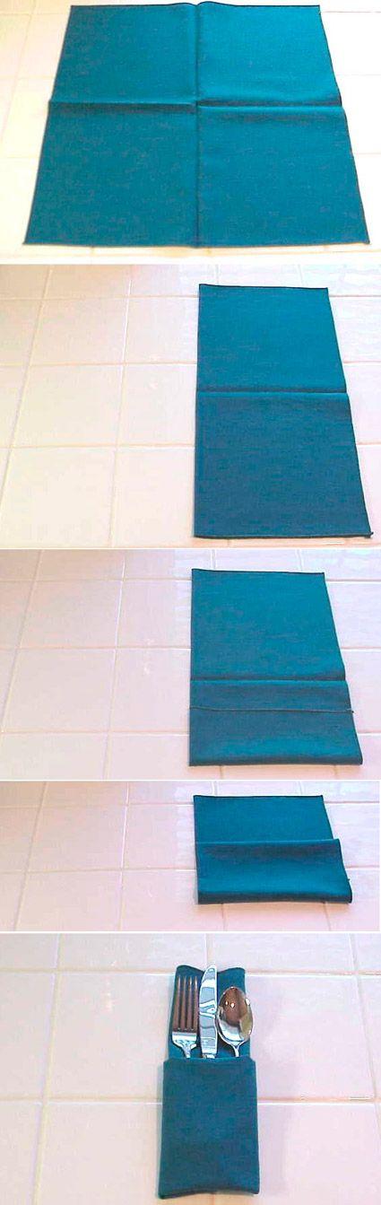 Doblar servilletas de forma clásica