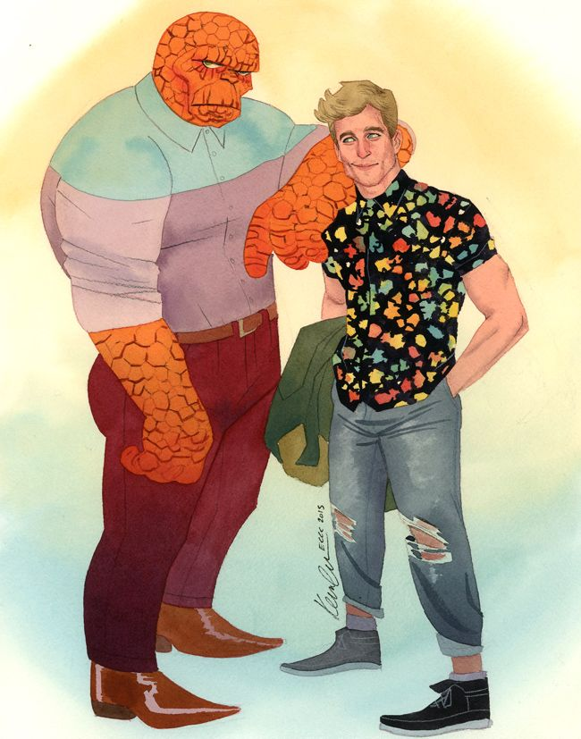 Ben Grimm and Johnny Storm by Kevin Wada *