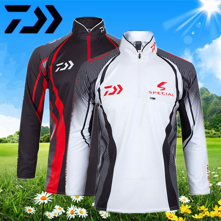 DAIWA anti mosquito clothing Icy cold Sai fishing clothing sunscreen clothing dry Breathable male summer cardigan DE-7001