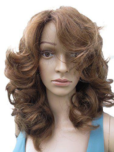 DE LONGUEUR MOYENNE PERRUQUE (Style JOAN) BRUN MOYEN | Your #1 Source for Beauty Products