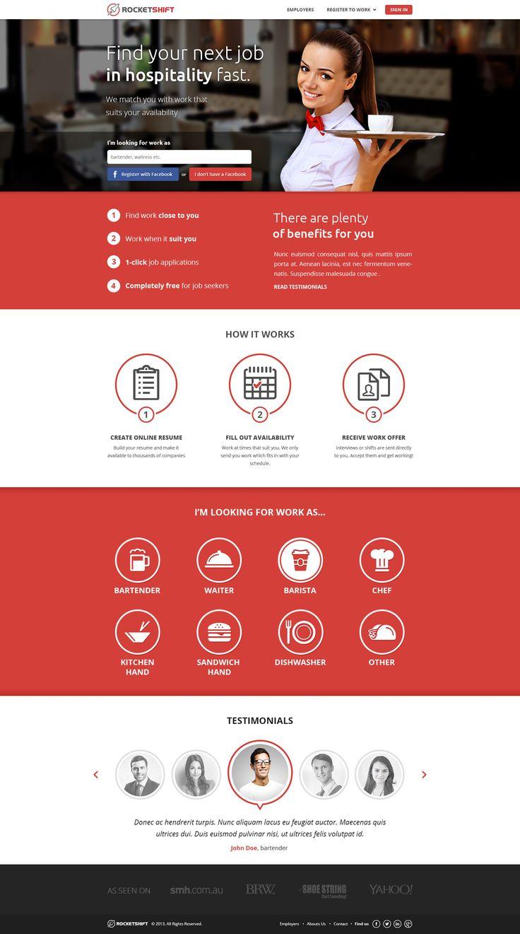 Lading page design by Gosure for Rocketshift. #landingpage #sales #websitedesign #design
