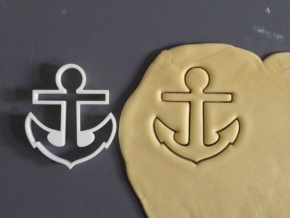 Anchor cookie cutter 3D printed by Printmeneer on Etsy, €5.50