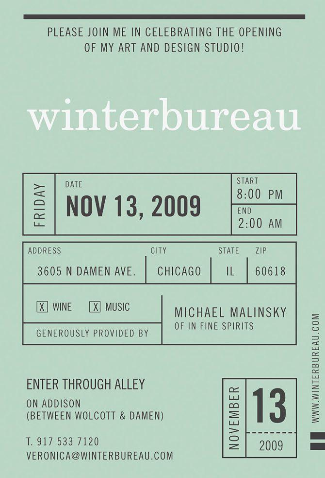 winterbureau invite | WINTERBUREAU Design Studio :: they do absolutely fantastic work