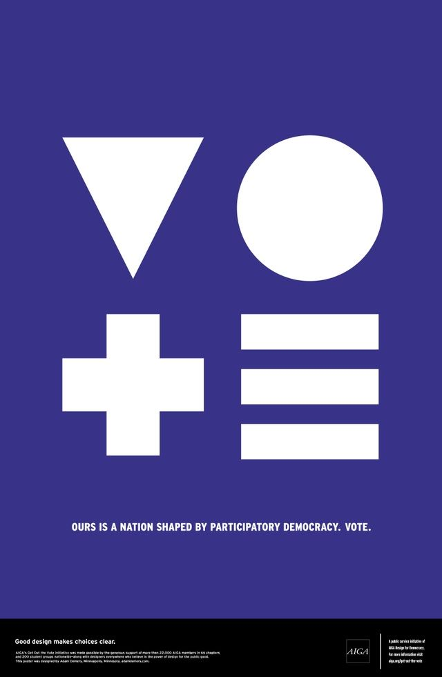 Aiga Get Out And Vote Posters Adam Demers