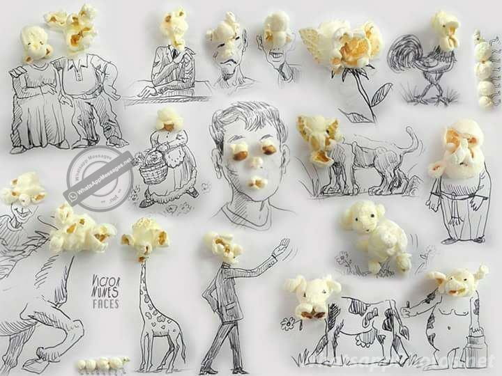 Popcorn Art That Blow your Mind - Whatsapp Messages