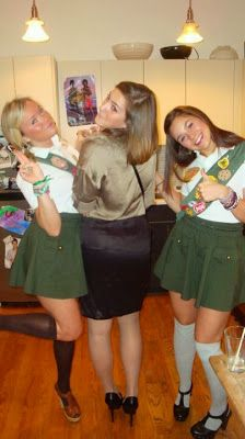 CARRY GIRL SCOUT COOKIES IN BASKET Halloween Costume Ideas - girly Halloween