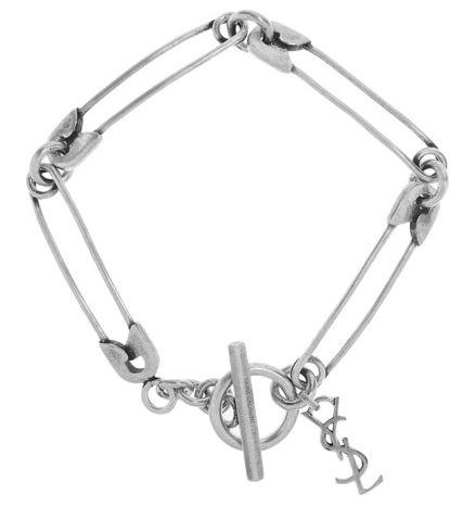 Saint Laurent silver plated bracelet.