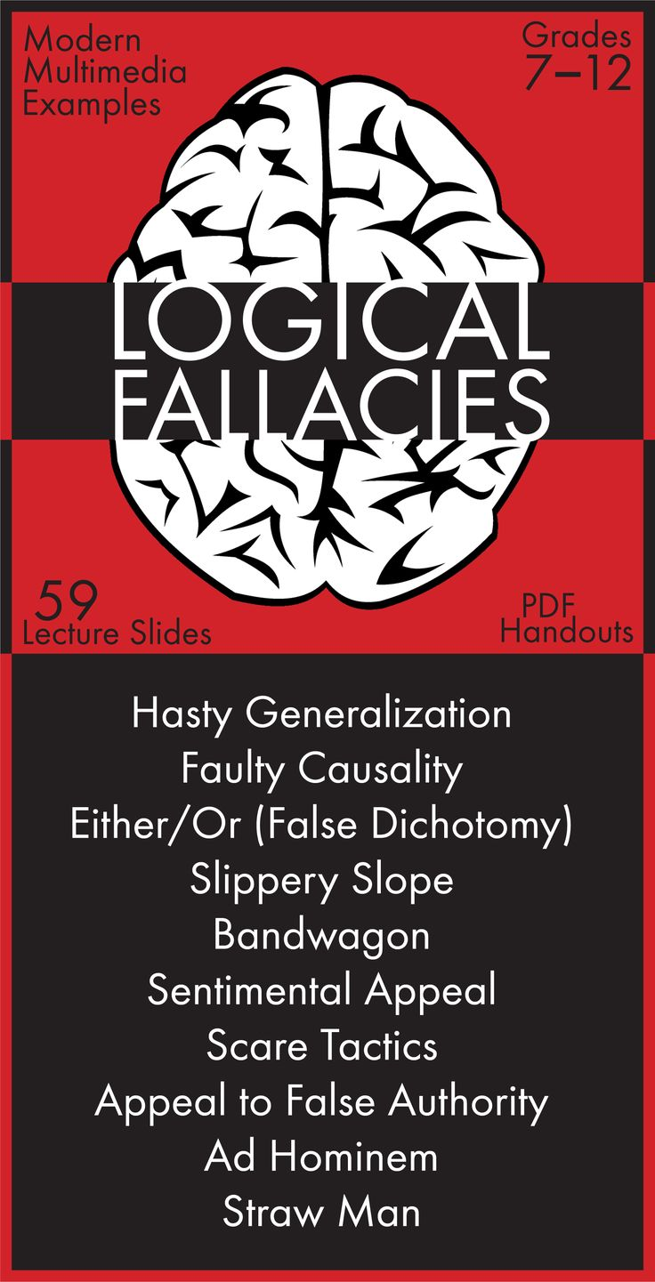 Help your students identify logical fallacies in our modern world with this dynamic presentation featuring attention-grabbing examples from the worlds of politics, pop culture, and advertising.