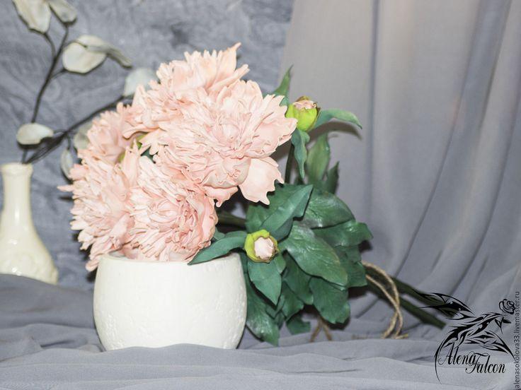 Купить Букет розовых пионов - розовый, букет, букет цветов, букет в подарок, букет пионов