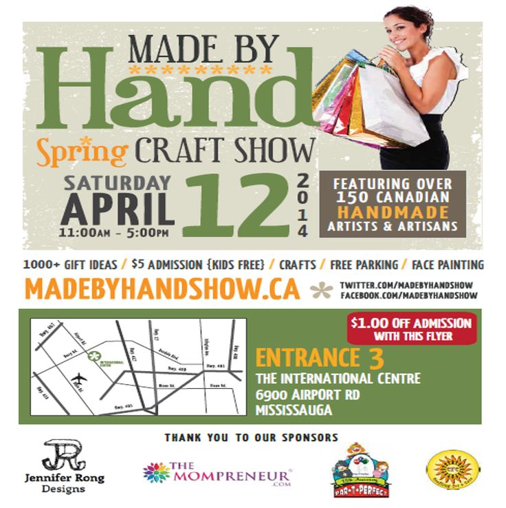 We hope to see you at the Spring #madebyhandshow SAT April 12th at International Centre.