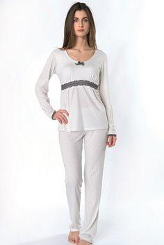 Pijama Invierno mujer modelo Moon de la firma Egatex. http://www.perfumeriaelajuar.com/homewear/pijama-mujer-invierno-/30/